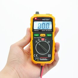 Wholesale PEAKMETER Counts Pocket Auto Ranging Digital Multimeter MS8232 PM8232 Similar with Fluke Multimeter Small Shell Backlit Data Hold