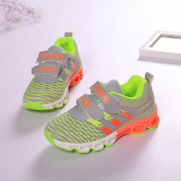Wholesale Quality autumn spring kids shoes middle Girls boys Sports track shock absorption functional mesh shoes Lightweight Children outdoor