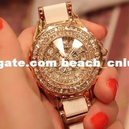 Wholesale DHL free ship Luxury watches ladies ceramic diamond women diamond watch luxury diamond table full of women s watches Wristwatches