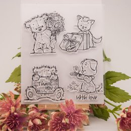 Wholesale Lovely Bears Transparent Clear Silicone Stamp Seal for DIY scrapbooking photo album Decorative clear stamp sheets