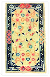 Wholesale antique rug from tibet wool and handmade or vegetable dying