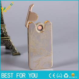 Wholesale New hot Creative personality ultra thin accelerometer shake double ignition cigar lighter rechargeable lighter USB cigarette lighter