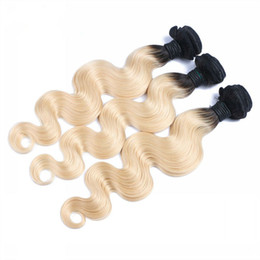 """8A Ombre 1B Blonde Hair Peruvian Body Wave 1B 613 Ombre Hair Bundles 10""""-30"""" Hair Extensions In Stocks"""