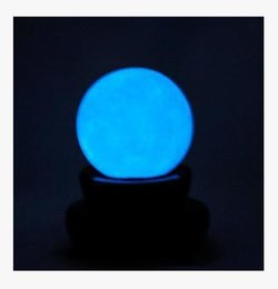 Wholesale 60mm blue Glow Calcite Glow In Luminous Crystal Ball The Dark Stone Ball Sphere Healing