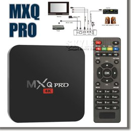 Wholesale MXQ PRO Android TV Box Amlogic S905 Chipset Android Lollipop OS Quad Core G G K Google Streaming Media Players with Retail Box