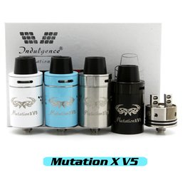 Wholesale Vaporizer Indulgence Mutation X V5 RDA Clone Rebuildable Atomizers Post less Deck Velocity Style Dual Post Deck Fit Mechanical Mods DHL