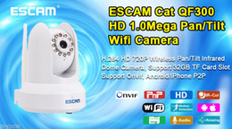 QF300 1MP HD 720P WIFI Audio PnP Onvif H.264 Micro SD slot indoor IP Camera PTZ