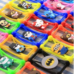 Wholesale 3D cartoon Universal Silicone Bumper Frame Minions stitch Case Mickey Bear Monster Doll cases for iPhone s se s plus Samsung s7 note