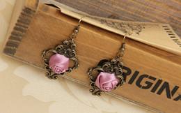 Promotion boîtes à bijoux dames Élégant dames femmes filles gothique royal palais fleur dangle boucles d'oreilles bijoux fantaisie cosplay fête cadeau avec boîte