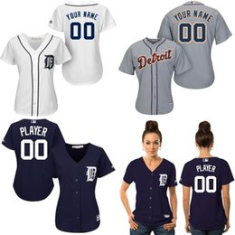 Wholesale Customized Detroit Tigers jersey womens baseball jerseys shirt custom logo Personalized Stitched bests by dr china S XXL