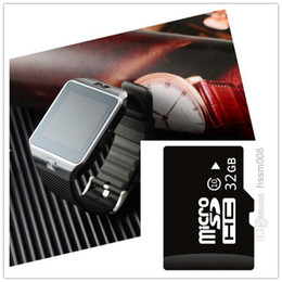 Wholesale DZ09 smartwatches Latest Bluetooth Smart Watch GB TF memory card With SIM Card For Apple Samsung IOS Android Cell phone inch Free DHL