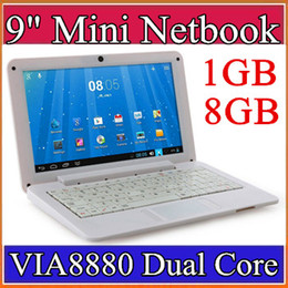 "9 inch Mini laptop VIA8880 Netbook Android 4.2 laptops VIA8880 9"" Dual Core Cortex A9 1.5Ghz 1GB RAM 8GB ROM Netbook B-BJ"