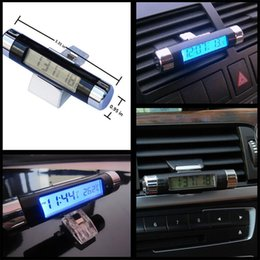 Wholesale Air Outlet Clip Type Auto Car Electronic Clock Temperature Meter Thermometer