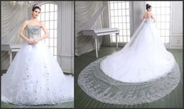 Promotion mariage strass robe de cristal 2016 Robes de mariée véritable image de luxe en cristal strass robes de mariée bretelles tribunal train robe de bal robe de mariage robe PH86115