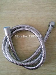 Wholesale 1 m plated chrome SHOWER CABLE PIPE HOSE BATHROOM HOOSE BATH HEAD HOSSE TUBE STANDARD Cheap pipe seamless