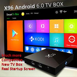 Wholesale Amlogic s905x Quad Core gb gb X96 Android Internet TV Box support GHx Wifi HDMI2 A P HD K H Kodi fully loaded