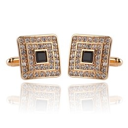 The new French fashion Enamel cufflinks diamond cuff links shirt goods quality zinc alloy 18*18mm 13g pairs men's wear