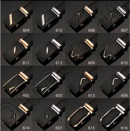 Wholesale Boucle de ceinture Hommes automatique sangle de ceinture en cuir de vache Ceinture Fashion Business Casual Tout match Baudrier designs LJJO890