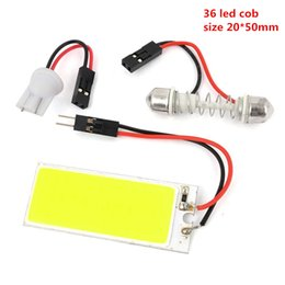 Wholesale White W COB Chip LED Car Interior Light T10 Festoon Dome Adapter v Car Vehicle LED Panel