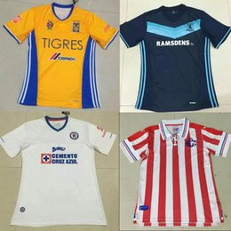 Wholesale Americas Santos Laguna Chivas Las Palmas Blue Cross football jerseys to accept the hybrid custom including DHL
