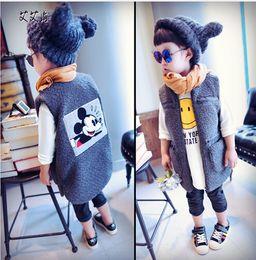 Wholesale Korean Style For Autumn - 2016 children autumn new temperament small coat girls male child Korean version of the long vest vest for free shipping