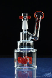 Wholesale Hitman Glass Bongs Brilliance Cake water Pipe oil Rigs with colored tire perc mm male joint