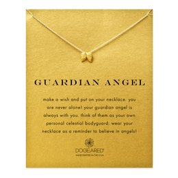 Wholesale-Hot Sale guardian angel, angel wings necklace gold plated Pendant necklace Clavicle Chains Statement Necklace Women Jewelry