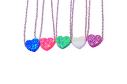 2017 Hot Heart opal pendant and necklaces for women 925 sterling silver jewelry PJ17020113