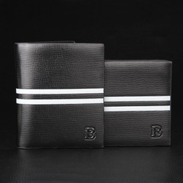 2016 New Fashion Mens Leather Quality Wallets Black And Coffee Designer Card Holder Purse Wallet for Men Multicolor Free Shipping 73