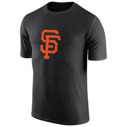 Wholesale 2016 New MLB Men San Francisco Giants Black Logo Dri FIT T Shirt MLB Baseball T Shirts