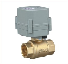 Wholesale 2 way Motorized and Brass Electric Valve T15 B2 C CR2 CR4 Wires AC110V V