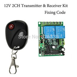 Wholesale Fixed code12V CH wireless remote control switch Transmitter Receiver RF Wireless Remote Control Switch