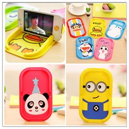 Wholesale Car Mount Holder car mat Cute cartoon silicone mobile phone pad The lazy multi function mat for mobil phone