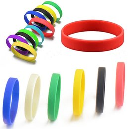 Wholesale Assorted Solid Colors Silicone Wristbands Wrist Bands Rubber Bracelets for Womens Mens