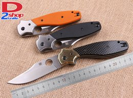 Wholesale 3 model SPYDERCO C39 Sand Blasting Blade G10 Carbon Fiber Handle OEM EDC Folding Pocket knife Utility Survival camping Hutning Knives