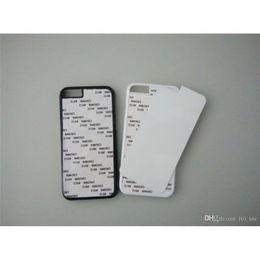 Wholesale 50pcs Sublimation Cases For Iphone s Plus Samsung S7 S7edge Plus DIY D Heat Press PC Cover Case With Aluminium Plates Bulk