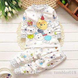 2016 children cotton underwear - shoulder button suit and long johns Tong Baobao infant underwear cute cartoon pattern