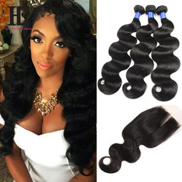 7A Virgin Peruvian Malaysian Indian Brazilian Body Wave Hair Wefts With Closure Body Wave Human Hair Bundles For Wholesale