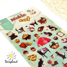 Wholesale Sticker Korea stationery Daisyland noble miss Kitty print cartoon albums hand books sticker