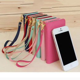 shinzi katon pu leather case phone cover for iphone 4 5 6 6s 6 plus with wallet card slot and mirror for woman DHL free shipping