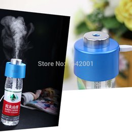 Wholesale new products Air Cleaning mini USB Portable home humidifier Water Bottle Cap fan essential oil diffuser Purifier ventilador