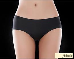 Female Underwear Women Lace ,Cotton Briefs Solid Ice Silk Seamless Panties