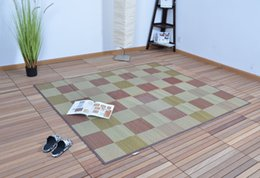 Wholesale Japanese Floor Carpet Tatami Mat Large Size Rectangle x200cm Summer Mattress Portable Tatami Rug Design Oriental Carpet Bamboo