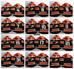 Wholesale 2016 NHL Stanley Cup Men Anaheim Ducks Cheap Hoodies Teemu Selanne Andersen Ryan Getzlaf etc Hockey Jersey Stitched Sweatshirts
