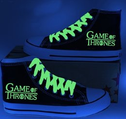 New Arrival Game of Thrones Luminous canvas shoes,leisure outdoor shoes,unisex sneakers lovers Hot Items