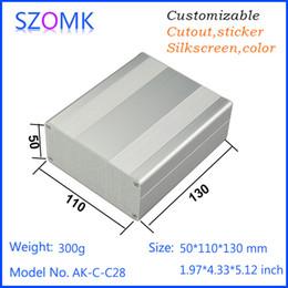 1 pcs, 50*110*130mm szomk aluminum amplifier housing distribution box electronics box for pcb diy enclosure aluminum case AK-C-C28