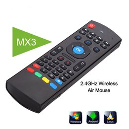 Wholesale U1 Wirless Mini Keyboard Air Mouse Remote Control G Sensing Gyroscope Sensor MIC Combo MX3 For S905X S912 TX5 Android TV BOX
