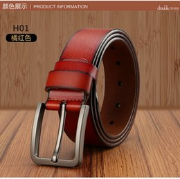 Wholesale 2016 cowleather mens cow genuine leather luxury strap male belts for men colors male plate buckle cowhide