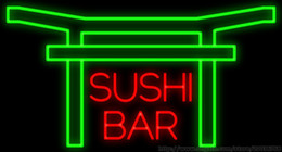 Wholesale Sushi Bar Neon Sign Handcrafted Custom Real Glass Tube Beer Bar Japanese Food Dishes Advertisement Display Sign quot X10 quot