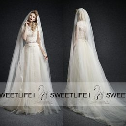 Wholesale Vintage Jewel Neck lace Appliques Ersa Atelier Wedding Dresses with Court Train Cap Sleeves Beaded Waist Tulle Overskirts with Veil